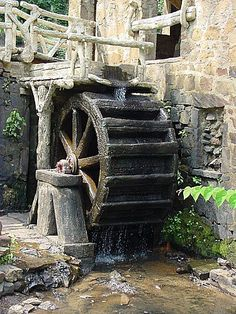 (Vince) Old mill for water to flow from the dam through their houses.