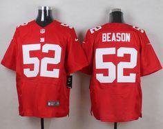 New York Giants #52 Jon Beason Red Alternate Men's Stitched NFL Elite Jersey