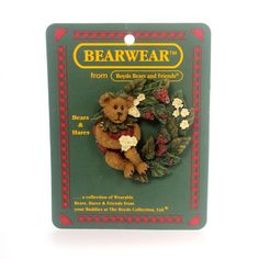 Boyds Bears Resin Jellie B. Bearypickins Pin Height: 2.25 Inches Material: Polyresin Type: Pin Brand: Boyds Bears Resin Item Number: Boyds Bears Resin 26151 Catalog ID: 29643 New. Bearwear From Boyds