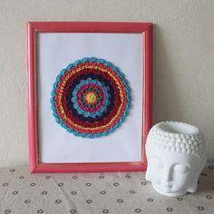 Quadro Mandala, mandala crochê, mandala. www.lojainfinity.com.br