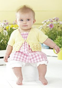 Sirdar 4434 uses Snuggly Baby Bamboo DK yarn to knit these cute cardigans. Uses weight yarn. Sizes birth to 7 years. Sirdar Knitting Patterns, Baby Knitting, Crochet Baby, Knit Crochet, Crochet Patterns, Baby Bamboo, Womans Weekly, Toddler Sweater, Baby Cardigan