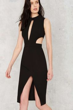 Side by Side Cutout Midi Dress - Clothes | Best Sellers | Going Out | Midi + Maxi | LBD | Date With the Night | All Party