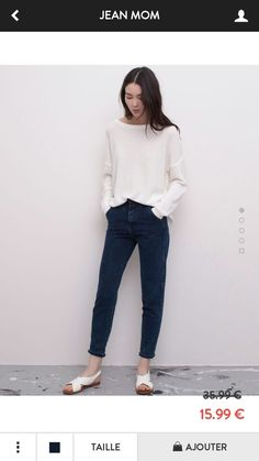 High waisted jeans by Pull&Bear: Would look perfect with oxford shoes.