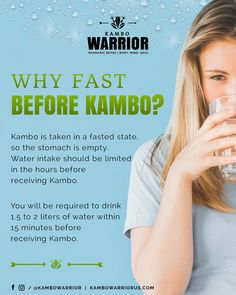 Kambo is done on an empty stomach. You will be required to drink up to of water before receiving Kambo. Cleanse, Empty, Detox, Drinks, Water, Drinking, Gripe Water, Beverages, Drink