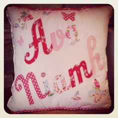 Handmade, personalised cushion. Made by me!