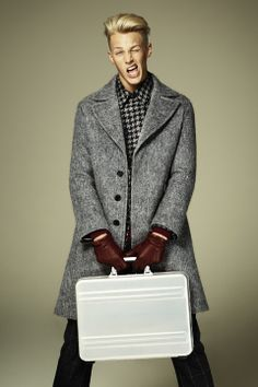 Clark Bockelman at Wilhelmina model by Jason Kim for the Fall 2013 issue of Menswear magazine by WWD