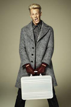 Clark Bockelman at Wilhelmina model by Jason Kim for the Fall 2013 issue of Menswear magazine by WWD