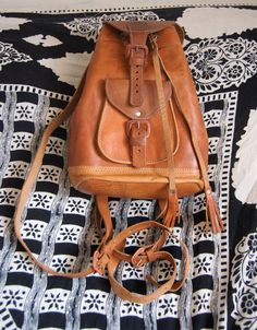 Brown Leather Bag / backpack