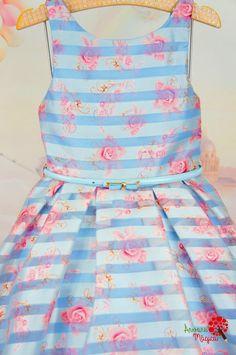 Vestido Infantil de Festa Azul Organza Petit Cherie Kids