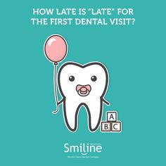 First tooth eruption = First dental visit Your child's first tooth erupts by his or her 1st birthday which should mark his or her first visit to the dentist. #Smiline #Dental #Care #Kids #Children #Birthday #Dentist #Hyderabad