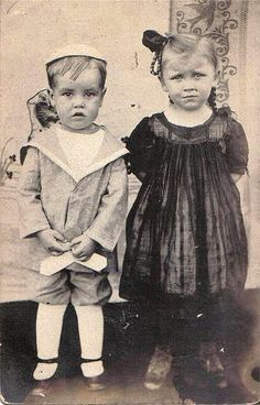 Vintage Children ~ Brother & Sister by chicks57, via Flickr