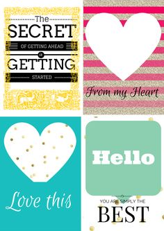 Free Printable: Glitter - Bright Journal Cards (3)