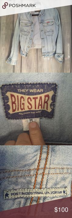 Big Star Cropped Jean Jacket Super cute jacket! From the 90's but in EUC! Great with a pair of black pants and a white t shirt! Very flattering! Fits more on the small side. If interested I'm happy to take measurements. Big Star Jackets & Coats Jean Jackets