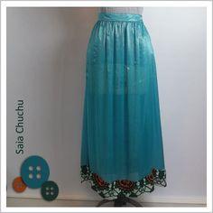Saia Chuchu (Azul) - Café Costura R$132,00
