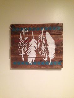 Rustic Distressed Dark Stain Tribal Indian by JMPalletDesign, $42.00