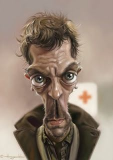Caricatures by German man Patrick Strogulski (It's Hugh Laurie if you weren't sure).
