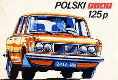 Polski Fiat 125 p - folder komiksowy Fiat 126, Poster Wall, Cars And Motorcycles, Automobile, Vehicles, Polish, Graphic Design, Deco, Cars