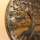 Hand oiled pine mounted tree of life / 2 footer / metal art – Metal Art of Wisconsin