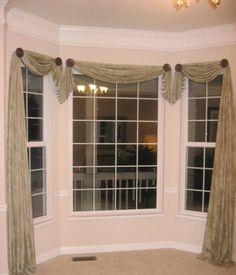 home design and decor pretty window scarf ideas bay window window scarf ideas