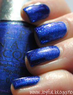 OPI, blue foil polish i don't like blue nail polish one but this is pretty!