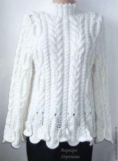 Купить Белый вязаный свитер - специальная рубрика, мода, новинки, подарок, для женщин, одежда