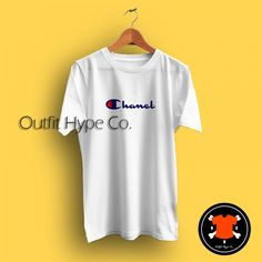84e81d344 Chanel Parody Champion Logo T Shirt #outfit #hypebeast #OutfitHype # Streetwear #Outfits