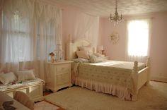 A little girls or big girls dreamy bedroom.