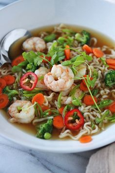 shrimp Ramen noodle Recipe | ... ramen on instagram the other day and who knew you all love your ramen