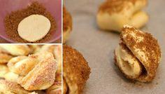 Jen 3 základní suroviny + cukr na obalení a vynikající koláčky ke kafíčku jsou na světě.