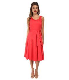Calvin Klein Calvin Klein  Scoop Neck Fit Flare w Self Belt Watermelon Womens Dress for 77.99 at Im in!