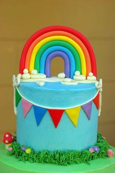 Поздравление на День Рождения Радуги! 7f2155097d8df0cc1161b5b566435f79--fondant-rainbow-rainbow-cakes