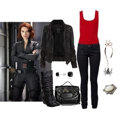 """The Avengers - Black Widow"" by icebubbletea on Polyvore"