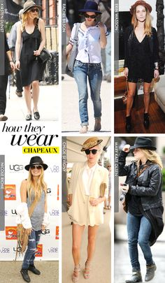 How They Wear: Chapeaux - Celebrity Style and Fashion from WhoWhatWear