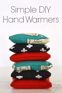 Simple DIY hand warmers are the perfect gift for everyone on your list this holiday season. They even make great candy free stocking stuffers. Pop them in the microwave for 30 seconds and place in coat pockets to keep hands toasty.