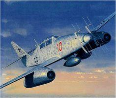 Me 262B-1a U1 Nachtjäger 'Red 10', NJG.11 'Kommando Welter', by Iain Wyllie