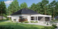 DOM.PL™ - Projekt domu CPT HomeKONCEPT-26 wariant 4 CE - DOM CP5-09 - gotowy koszt budowy Gazebo, Shed, Villa, Outdoor Structures, Outdoor Decor, Home Decor, Traditional, Future, Kiosk