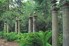 Architectural columns at Greenwood Gardens