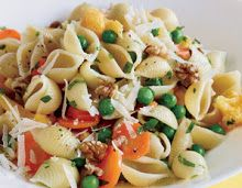 Healthy Vegetarian Recipes: 5 Fast, Easy Meatless Meals - Prevention.com. Loy says: the pasta & veggies dish is quite good. We put chicken bouillon in the water and skipped the walnuts.