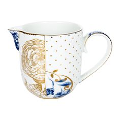 Add delicate charm to the home with this Royal White Milk Jug from Pip Studio. Made from bright white porcelain, this intricately shaped jug is perfect for holding cream at afternoon tea settings. Fea