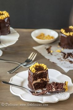 chocolate buttermilk honeycomb cake from @Jennifer Delicieux