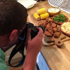 Smokey in the kitchen, working his magic in front off and behind the camera. #chicken wings