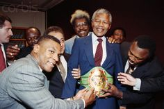 Mike Tyson, Don King and Joe Frazier with Nelson Mandela Mike Tyson, Great Leaders, Nelson Mandela, Revolutionaries, Black History, Perspective, Champion, Museum, African