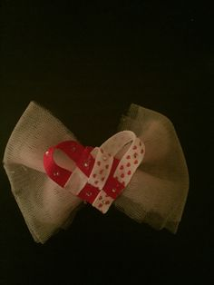 Heart on tulle bow