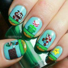 Nails 2  Super Mario Muster