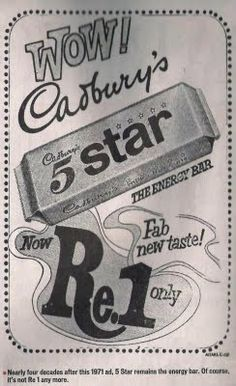 Vintage Ads of Stuff Still in the Market :) :) - 5 Star for Re. 1 only ...yummmmm