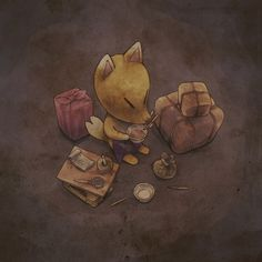 Animal Crossing Fan Art, Animal Crossing Memes, Animal Crossing Villagers, Flag Design, Game Art, Fantasy Art, Art Drawings, Cute Animals, Sketches
