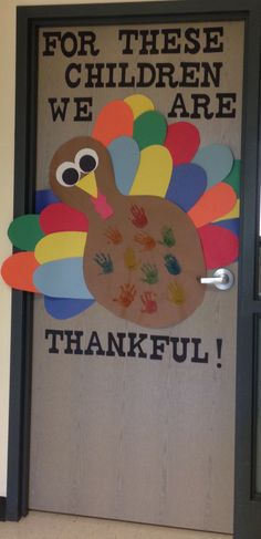 For the kids ..... put the people they are thankful for!