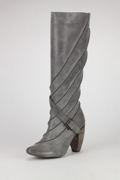"""JUMP  turbo Boot  $189    This leather boot will add a sleek look to any ensemble.  - Side zip closure  - Chunky stacked heel  - Cross-over buckle strap  - Shaft: 13"""" height, 13"""" opening circumference  - Approx. 3"""" heel    If only this had a wider shaft opening... it would be mine.  Oh yes, it would be mine..."""
