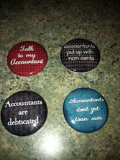 Accountant Set - a little humor for my love!