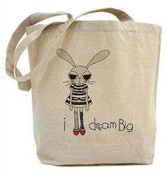 """Graduation Gifts for Her:  """"I Dream Big"""" Canvas Tote by I Love Sacha Penn at Etsy"""